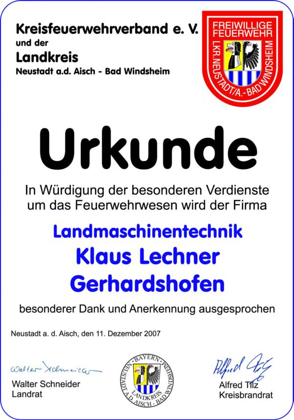 Kreisfeuerwehrverband Neustadt A D Aisch Bad Windsheim